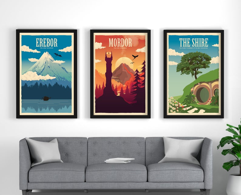 LOTR travel posters