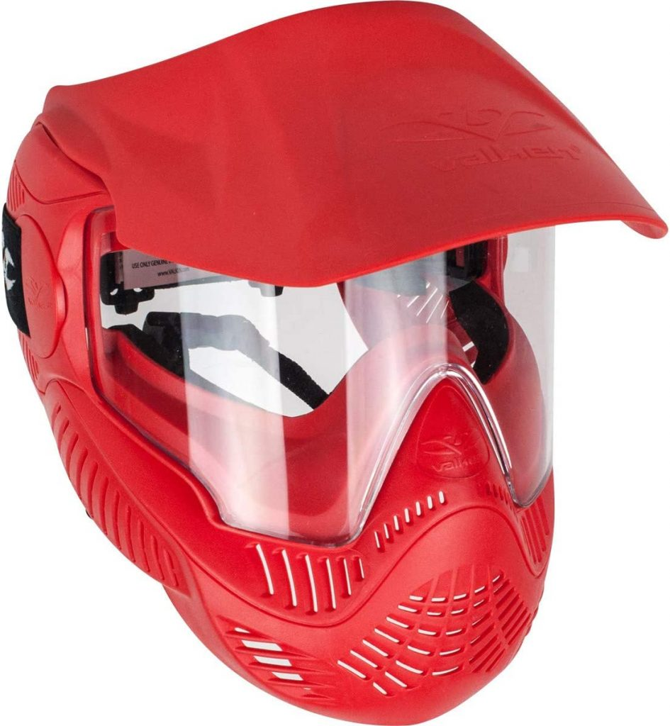 paintball kids goggle red mask